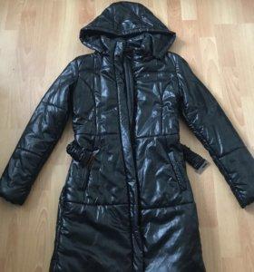 Кожаное зимнее пальто befree