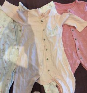 Пижамы mothercare 6-9 месяцев