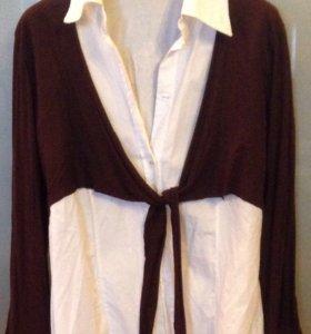 Блузка с накидкой