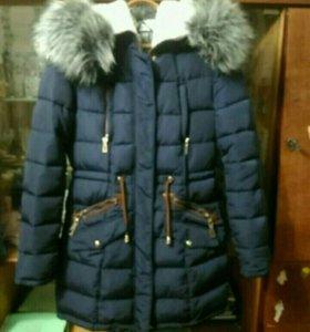 Зимняя куртка, тёмно-синяя