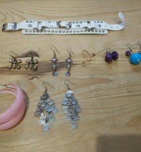Сережки, браслет, кольцо