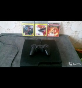 Игровая приставка PS3 с дисками