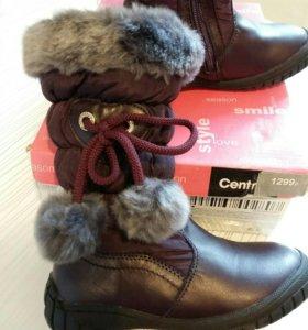 Зимние сапожки для девочки. Новые