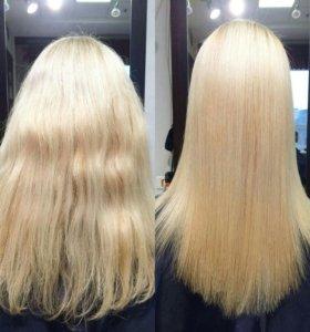 Кератиновое восстановление/выпрямление волос