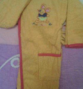 Детский бананы халат