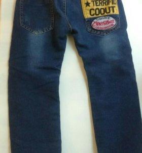 Утепленные джинсы рост 110