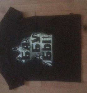 футболка с фосфорной надписью