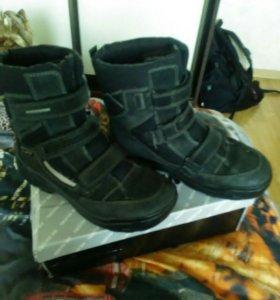 Ecco, 38р ботинки зимние
