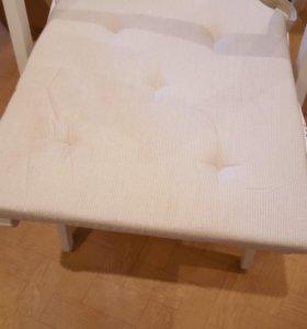 Стулья складные белые..набор 4 стула