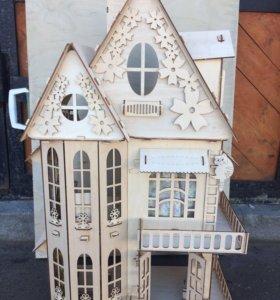 Детский домик конструктор для девочек.