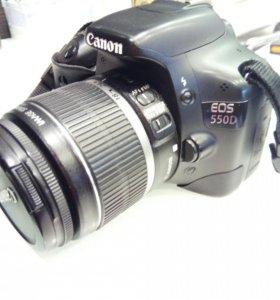 Canon 550D + kit 18-55mm