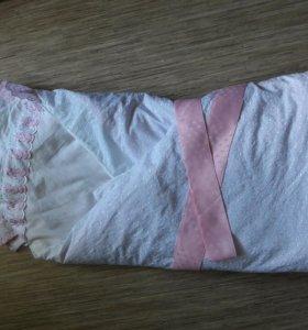 Одеяло на выписку на девочку