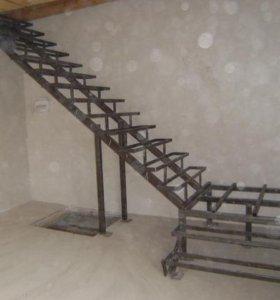 Металлические лестницы под обшивку деревом