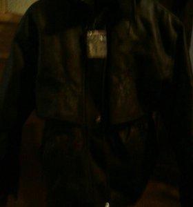 Коженая куртка зимняя