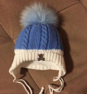 Зимняя шапочка 0-3 мес.