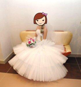 Свадебное платье 👰🏼40-44р .