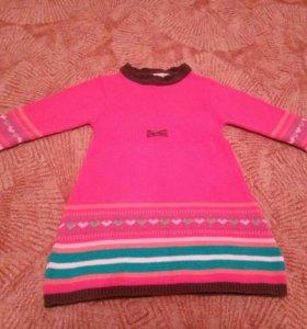 Вязаное платьице для девочки