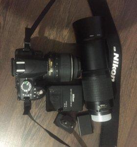 Nikon 3100+2 батареи+ Nikor 70-300 + Nikor 18-55vr