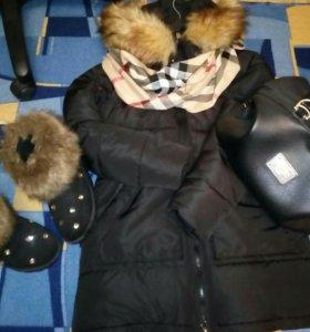 Парка, угги и сумка