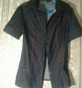 Трикотажная рубашка под джинсу