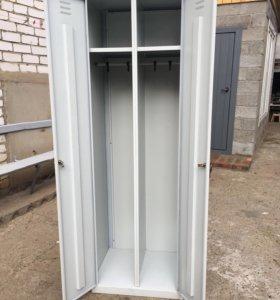 Металлический шкаф двухсекционный