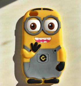 Чехол миньон на айфон 5,5c,5s,SE