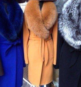 Пальто зима синее