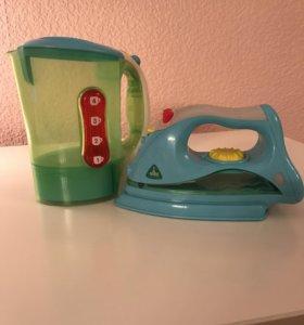 Игрушки ELC утюг и чайник