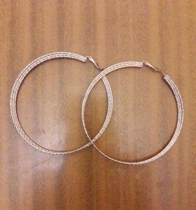 Новые серьги-кольца!