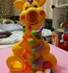 Музыкальный жираф с шариками kiddieland