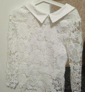 Блузка кружевная новая