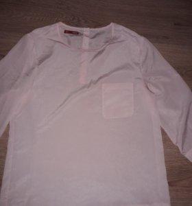 Блузка розовый