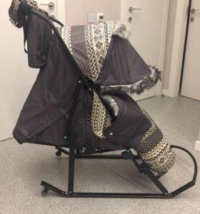 Санки-коляска Kristy
