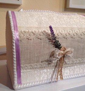 Свадебная коробка для конвертов, красивая