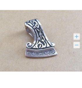 Цепь Якорная и амулет Секира Перуна серебро 925
