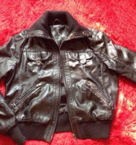 Кожаная Фирменая куртка