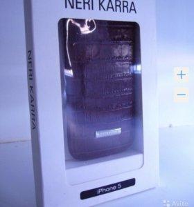Чехол для iPhone SE, 5, 5S Новый Натуральная Кожа