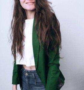 Зелёный пиджак Zara