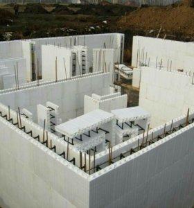 несьемная опалубка из бетона.производство.