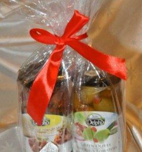 Томаты вяленные и оливки с перцем