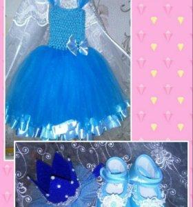 Платье детское 6-12 месяцев