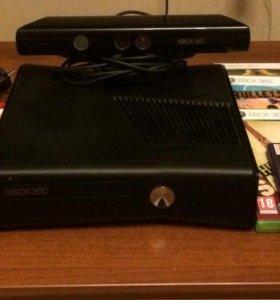 Xbox 360 + Kinect + 7 игр