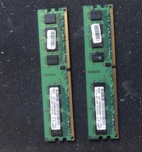 Оперативная память 1+1gb