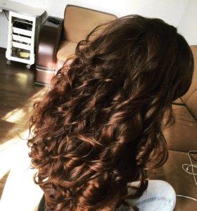Локоны и плетение кос