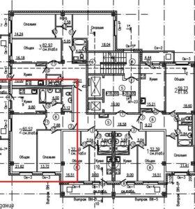 Квартира, 2 комнаты, 65.6 м²