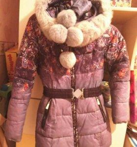 Пуховик зимний для девочек