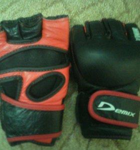 Перчатки ММА(смешанные единоборства , м1),из кожи.