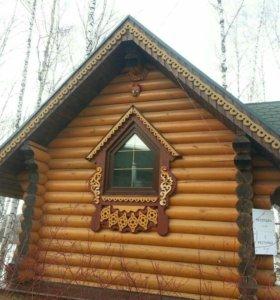 Выполню строение из дерева любой сложности