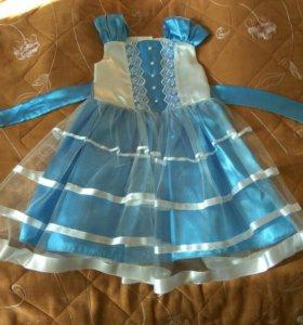 Платье нарядное. Б/у. Размер 98