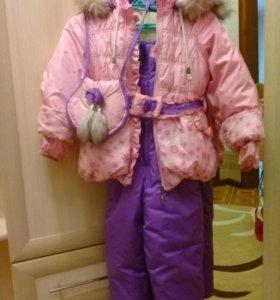 Зимний костюм с сумочкой
